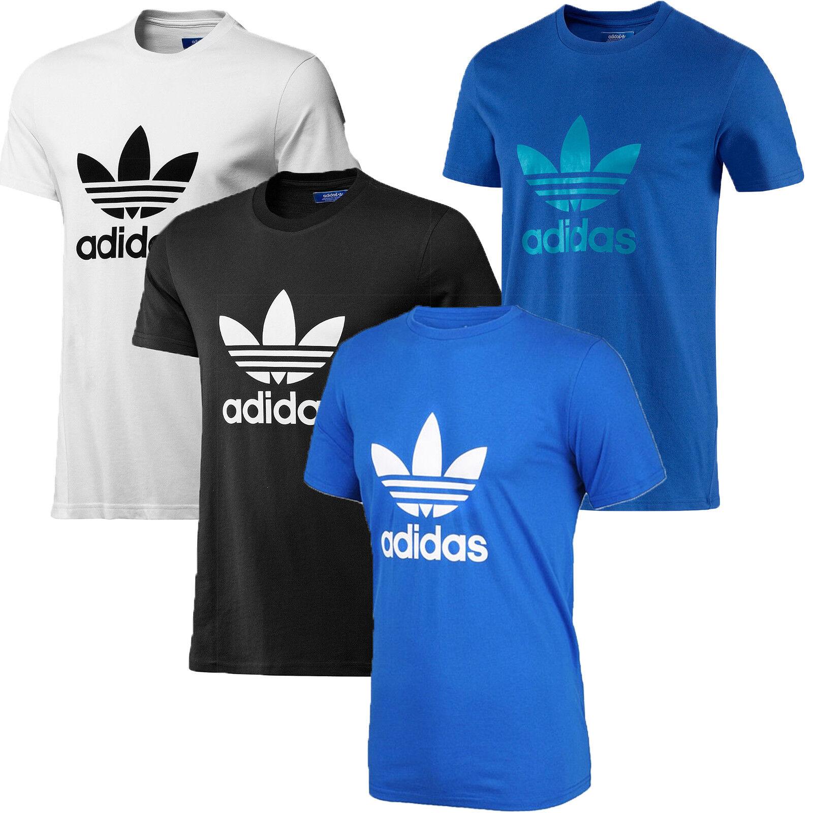adidas Originals Herren T-Shirt Rundhalsausschnitt Dreiblatt Baumwoll-T-Shirt Neue Größe S M L XL