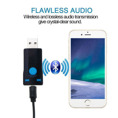 USB Wireless Adapter Bluetooth 5.0 Audio Stereo Receiver with mic for PC /_ES