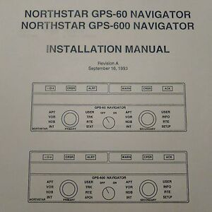 northstar gps 60 gps 600 navigator install manual ebay rh ebay com North Star 951X GPS Used Northstar GPS