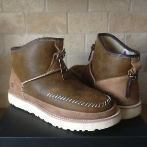 Ugg Campfire Pull On Boots Shoes Chestnut Bomber Sheepskin