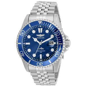 Invicta-Men-039-s-Watch-Pro-Diver-Blue-Dial-Stainless-Steel-Bracelet-30610
