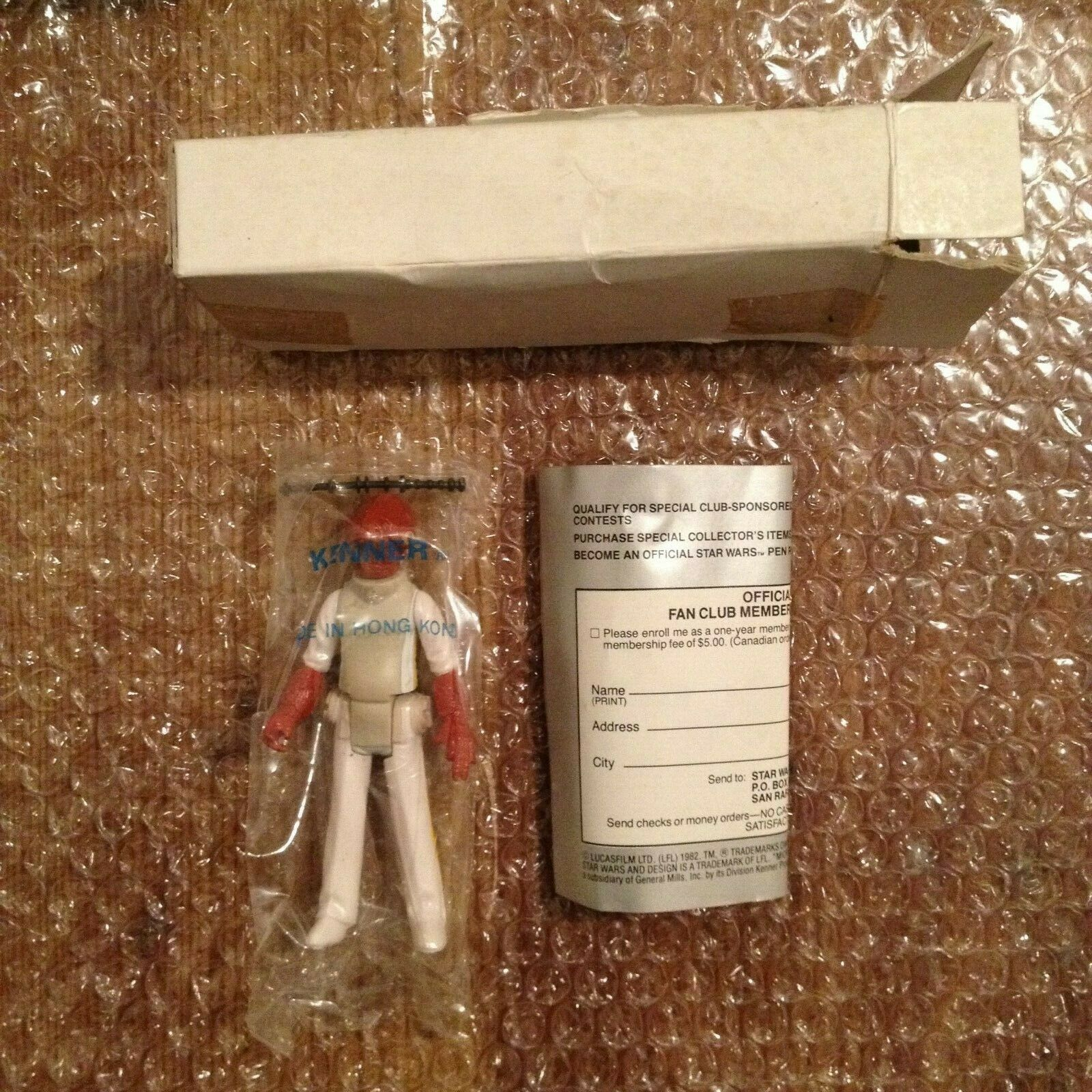 Star Wars Vintage Kenner 1983 Admiral Ackbar Baggie Mail-away Box Papers ESB-d