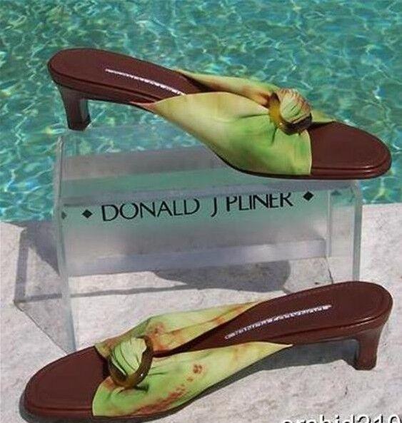Donald Pliner Helli maille élastique en cuir Slide Chaussure New in Box Boucle 6.5  225