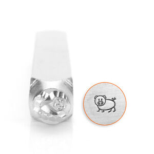 Details About Oinky Pig Metal Stamp Impressart Steel Hand Stamping Jewelry Punch Farm Animal