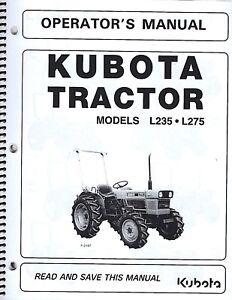 Kubota L235 & L275 Tractor Operator's Manual w/Wiring Diagram ... on l2600 kubota wiring diagram, l3830 kubota wiring diagram, l3240 kubota wiring diagram, l3450 kubota wiring diagram, l2650 kubota wiring diagram, l2250 kubota wiring diagram, l3400 kubota wiring diagram, l2350 kubota wiring diagram, l285 kubota wiring diagram, l2500 kubota wiring diagram, l4200 kubota wiring diagram,