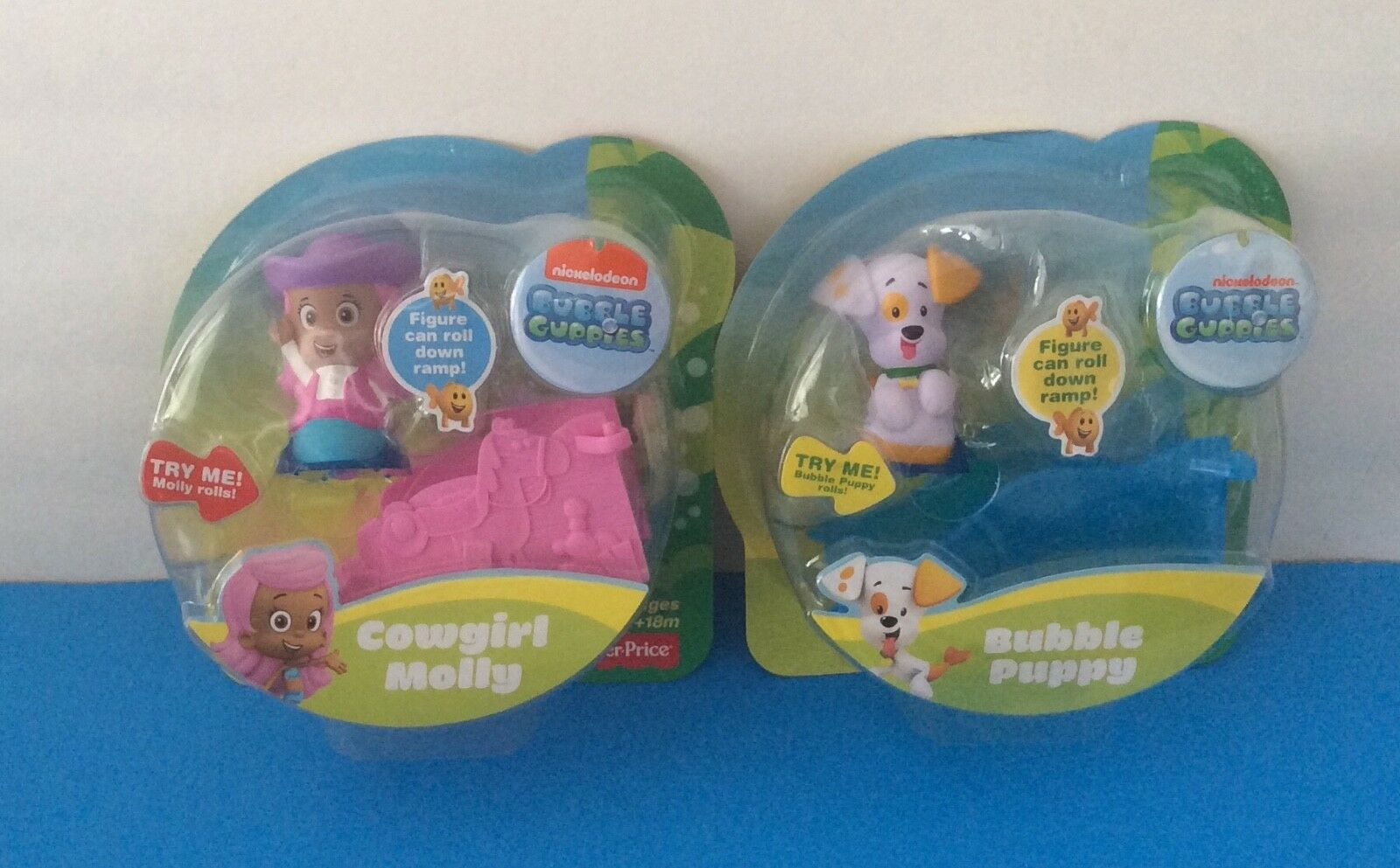 New Set of 2 BUBBLE GUPPIES FIGURES Roll - BUBBLE PUPPY & COWGIRL MOLLY