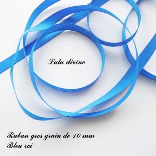 2 mètres de ruban gros grain largeur de 10 mm Couleur Bleu roi
