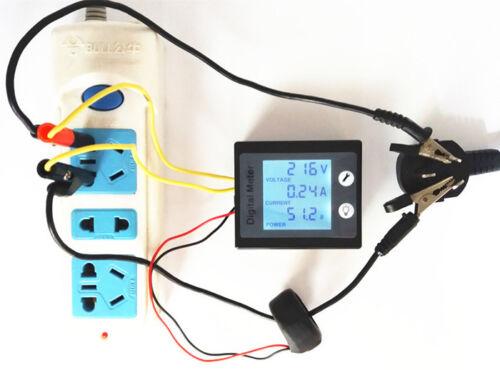 Alimentation AC mètres Moniteur Volt Amp kWh Watt numérique électrique Combo Meter 110 V 230 V
