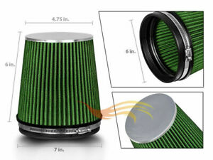 GREEN-6-034-152mm-Inlet-Short-Truck-Air-Intake-Cone-Replacement-Dry-Air-Filter