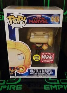 Funko-Pop-GITD-Captain-Marvel-446-Marvel-Collector-Corps-Exclusive
