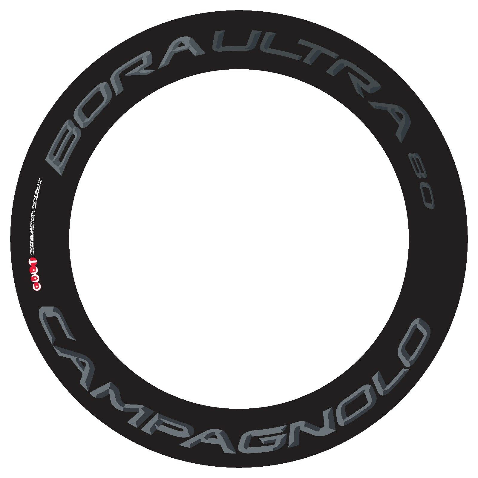 CAMPAGNOLO BORA ULTRA 80 DARK LABEL REPLACEMENT RIM DECAL SET FOR  2 RIMS