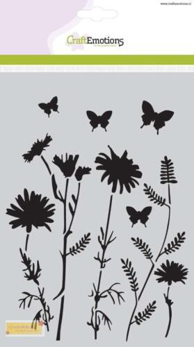 CraftEmotions Mask stencil flower - Feldblumen A5,Malschablone,185070/1107,Schab