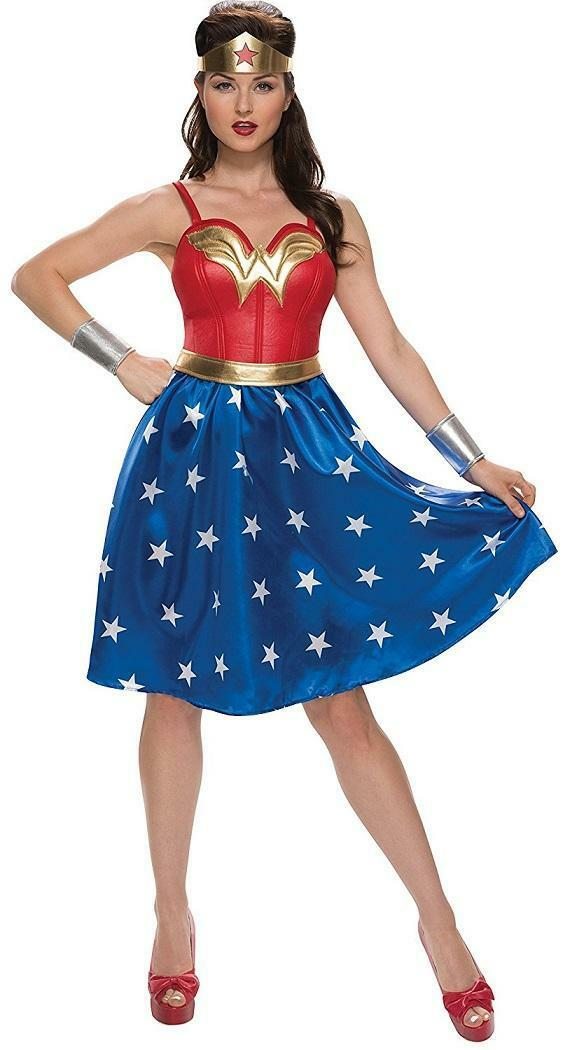 Justice League - Wonder Woman DC Superhero Fancy Dress Up Halloween Adult Costume
