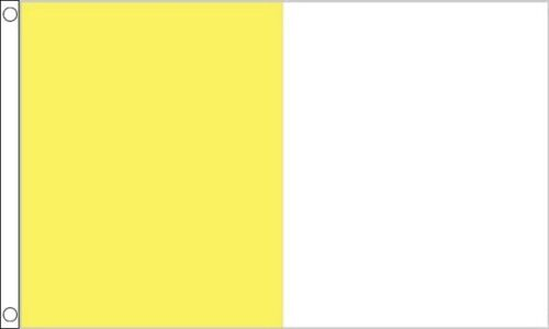 90cm x 60cm Flag Banner Saffron and White Irish County Flag 3ft x 2ft