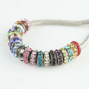 Lots-New-Czech-Crystal-Big-Hole-Spacer-Charm-Beads-for-European-Bracelet-8mm