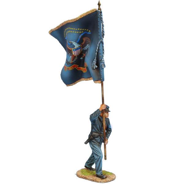 ACW104 Unionssergeant ståard Bearer - 56th PA Vols Regt färger av First Legion
