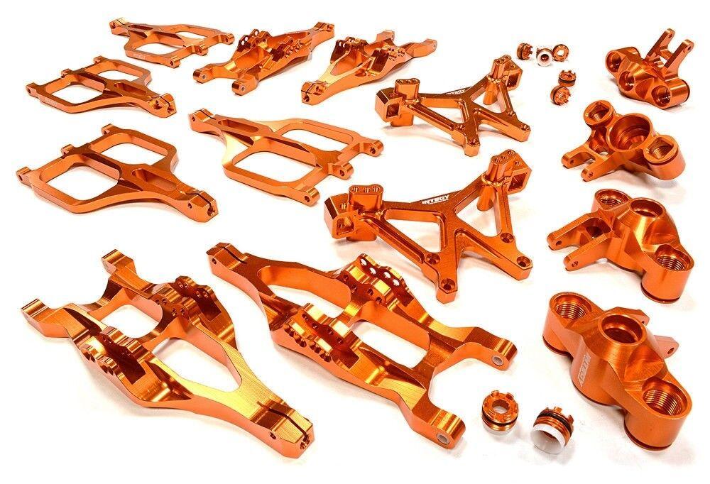 Integy Suspension Set for Traxxas Traxxas Traxxas 1 10 T-Maxx E-Maxx C25958orange 3a9b31