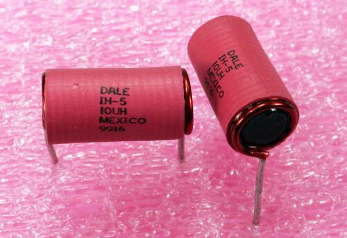 Vishay-alta actual inductor de bobina de plomo radial IH-5-10UH-Paquete de 2 piezas