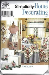 Uncut Simplicity Sewing Pattern Home Decor Kitchen Accessories Donna Lang 7556 Ebay