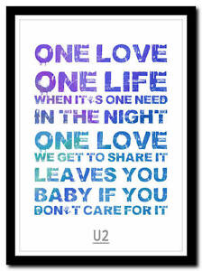 U2-one-song-lyric-poster-typography-art-print-in-4-sizes-XL-XXL