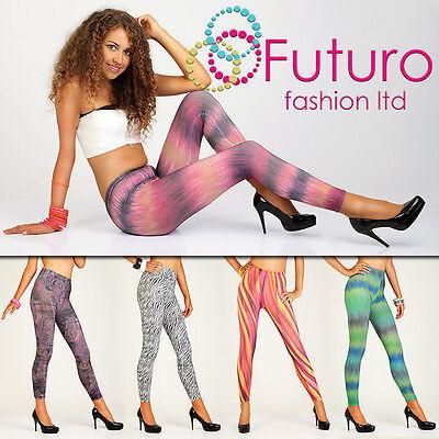 Sexy & Trendy Full Length Leggings Multi Pattern Jeggings Unique Pants Hq Fm1 Angenehm Im Nachgeschmack