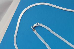Brilliant Bijou Solid .925 Sterling Silver 3.25mm Magic Herringbone Chain Necklace 8 inches
