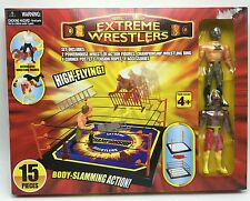 Wrestling Playset Body Slamming Action 15pc Articulated Toy Figures New