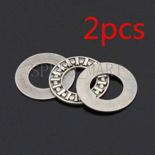 2 PCS NTA815 1//2/'/' Thrust Needle Roller Bearing With Two Washers 12.7 x 23.8