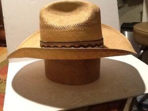 Vintage men s straw Hat Cowboy Hat Western Hat Resistol 7-1 2  f56a80a9513