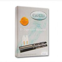 E-Zigarette E'Werk JustFog C14 PT 900 mAh 1,6 Ohm in schwarz mit 2 Liquids 12 mg
