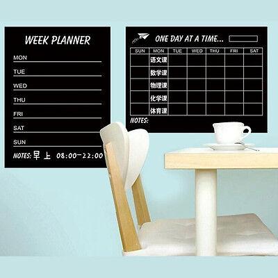 DIY Week Planner Calendar Memo Blackboard Wall Stickers Removable Wall Stickers