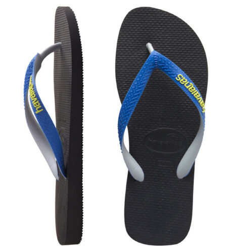 Havaianas Toddler Boys Classic Top Mix Sandals Black Blue 7//8 New