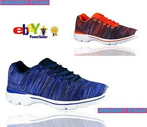 Womens-Get-Fit-Go-Walking-Slip-On-Gym-Fitness-Memory-Foam-Trainers-Shoes-Size
