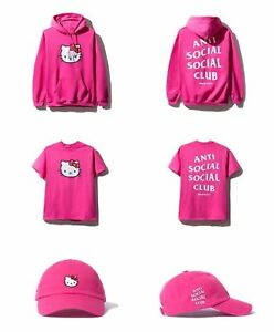 ASSC x Hello Kitty Cap Anti Social Social Club Hot Pink FW18 SOLD OUT IN HAND