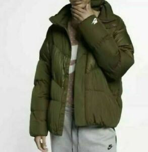 Details about Nike Men's Size XL Downfill Oversized Jacket KhakiOlive. 928893 395 Nwt