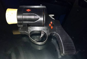 Details about Harley Quinn Cork Gun 3D Printed - DIY Movie Prop Kit