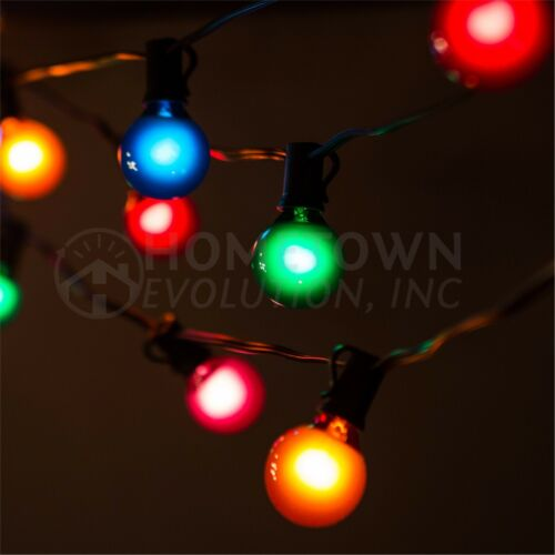 100/', 50/' and 25/' Lengths G40 Assorted Satin Outdoor Patio Globe String Lights