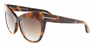 7ac19f6f83171 Tom Ford FT0523 S 53F NIKA Medium Havana Cat Eye Sunglasses ...