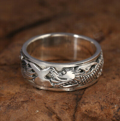 C30 Ring Sterling Silber 925 Drehring Drache mythologisches Fabelwesen