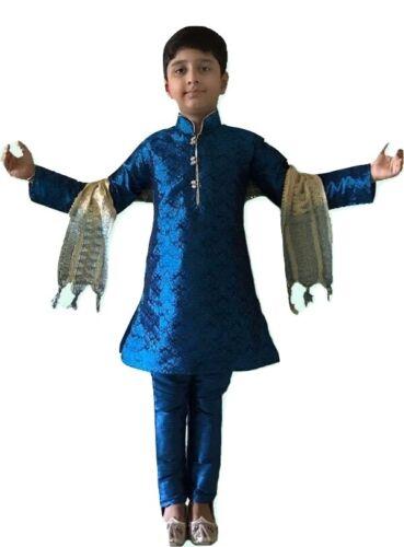 Ragazzi Pigiama Indiano Bollywood Sherwani Bimbi Bambini Kurta Salwar Kameez