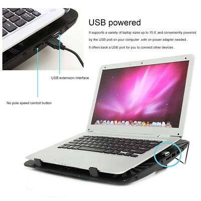Laptop Cooling Cooler Pad Stand USB Powered 2 Fans for 15 6