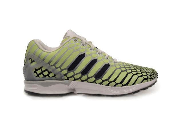 1c8e1eaeed00 Mens ADIDAS ZX FLUX FLUX FLUX Light Green Textile Synthetic Trainers AQ4535  159756