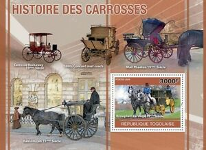 History of Horse Carriages horses transport Togo 2010 s/s Mi. Bl. 550 #TG10411b - Olsztyn, Polska - History of Horse Carriages horses transport Togo 2010 s/s Mi. Bl. 550 #TG10411b - Olsztyn, Polska