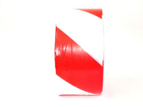 Absperrband 75mm x 500m rot-weiß Warnband Flatterband Trassenband Signalband