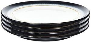 Image is loading Denby-Halo-Dinner-Plate-Set-Grey-Set-of-  sc 1 st  eBay & Denby Halo Dinner Plate Set Grey Set of 4 | eBay