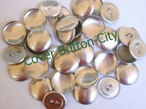 50 Size 36 Cover Buttons WIRE BACKS 7//8 inch