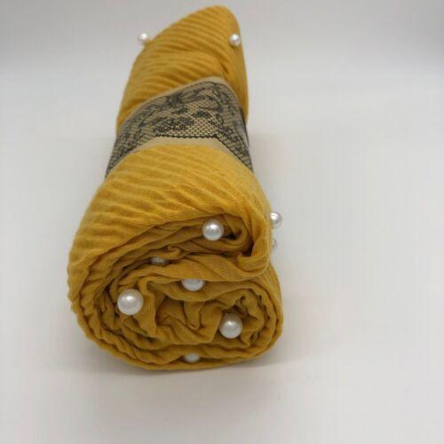 Crinkle Scarf Hijab Jersey Shawl pearl Headscarf Scarves Abaya Wrap Neck Stretch
