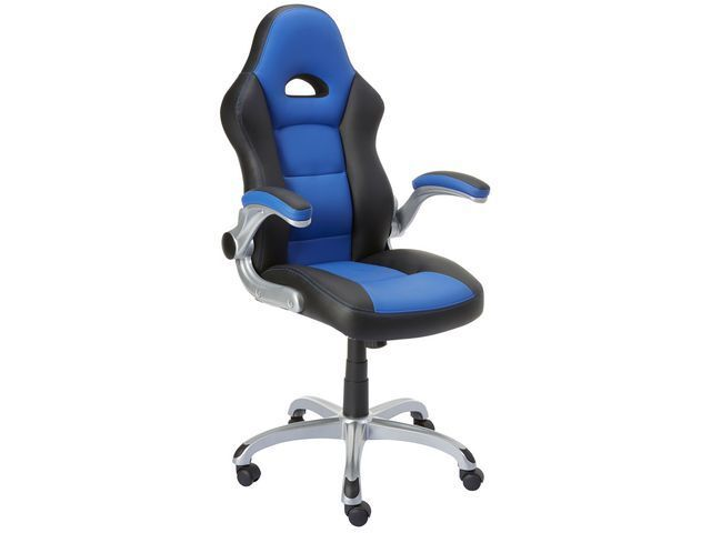 Groovy Foroni Racing Gaming Computer Office Chair Blue Black Faux Leather Graded Fo3 Creativecarmelina Interior Chair Design Creativecarmelinacom