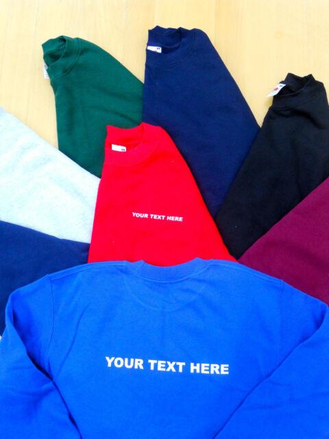 Personalised Printed Fruit of the loom set in sweatshirt workwear charity event