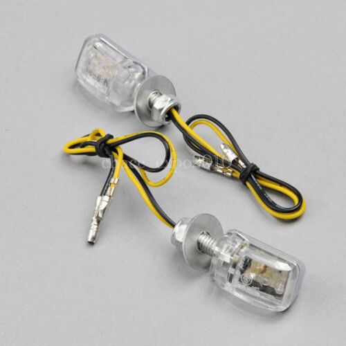 2x Mini LED Amber Universal Motorcycle Turn Signal Blinker Indicator Light